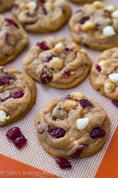 white chocolate cranberry cookies soft baked white chocolate chip ...