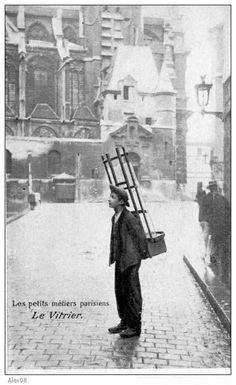 Le vitrier - Les petits métiers parisiens.