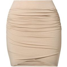 by Ti Mo Mini skirt ($87) ❤ liked on Polyvore featuring skirts, mini skirts, bottoms, saias, faldas, beige, women's dresses & skirts, beige mini skirt, mini skirt and short mini skirts