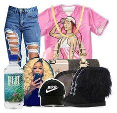 """•"" by maryjanetower ❤ liked on Polyvore featuring Nicki Minaj, Boohoo, Michael Kors, NYX, Casetify, Chanel and UGG Australia"