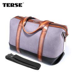 TERSE high quality mens duffel bag handmade custom designer weekend bag travelling bag men