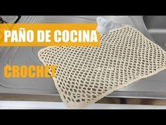Paño de cocina a crochet - YouTube