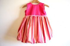 Sale  CHEWING GUM BALLOON girls handmade dress with by melimelon, £24.00