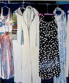 """Jacksonville artist Christina Foard has been developing a series of paintings, """"Dresses"""" Gcse Art Sketchbook, Peter Blake, We Wear, How To Wear, Ap Studio Art, Past Present Future, Fast Fashion, The Ordinary, Frocks"""