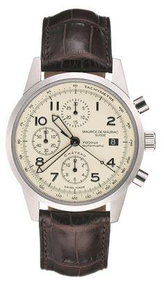 Maurice de Mauriac Chronograph Modern. http://mauricedemauriac.ch/home.php Swiss watches for men and women.