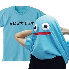 変身 かぶる 面白 Tシャツ【スカイブルー】【なにかでそうだ】雑貨 魔物 (L)