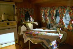 Sweet vintage trailer interior