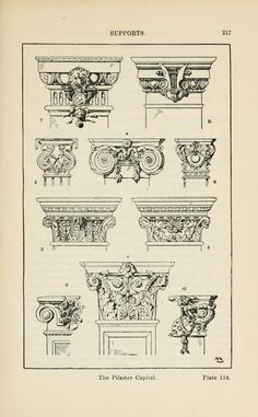 A handbook of ornament supports the pilaster capital page 217