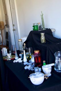 Harry Potter party featuring serious potions class and booklet of experiments
