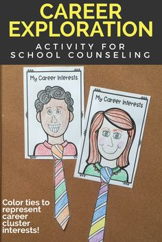 This elementary school counseling career exploration classroom guidance lesson gives students a chance to explore their career interests as they relate to 6 career clusters (agricultural sciences, communication arts, medical sciences, technical sciences, human services, and business services). In a movement-based activity, students walk to corners to color a necktie craft that represents their career interests. Students then review careers in their career cluster of interest and reflect on…