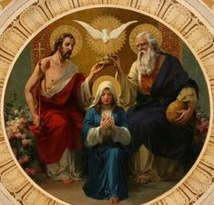 Jesus And Mary Pictures, Mary And Jesus, Religious Pictures, Bible Pictures, Blessed Mother Mary, Blessed Virgin Mary, Queen Mother, Catholic Art, Religious Art