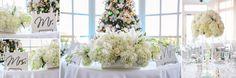 John + Bianca Wedding at The Summit House - Orange County Wedding Photographer, Amazing OC Wedding Photography, white elegant flower centerpieces, Mr. Mrs. signs, Kevin Le Vu Photography