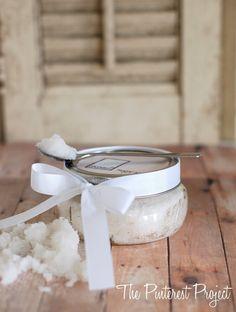 DIY: coconut sugar scrub