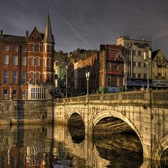 I would love to go back and walk over this bridge again...  St Patrick's Bridge ~ Cork, Ireland