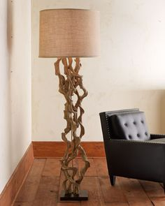 """""""Twisted Vine Floor Lamp""""  I thought it was neat!"""