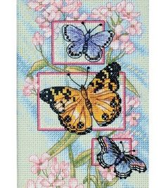 Dimensions Gold Collection Petite Floral W/Butterflies Cntd X-Stitch Kit
