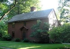 Hubbard House, a center-chimney Colonial saltbox, built in 1744 ~♥~