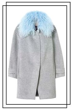 26 Statement Coats You'll Wear All Winter Long #refinery29  http://www.refinery29.com/winter-statement-coats#slide-2  No need for a scarf when your coat comes with a built-in fuzzy collar....
