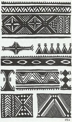 Discover recipes, home ideas, style inspiration and other ideas to try. Arte Tribal, Tribal Art, Tribal Prints, Ethnic Patterns, Textile Patterns, Print Patterns, African Tribal Patterns, Berber Tattoo, African Tattoo