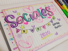 Bullet Journal Titles, Card Drawing, Typography, Lettering, Notebook Covers, Alphabet, Doodles, Love You, School