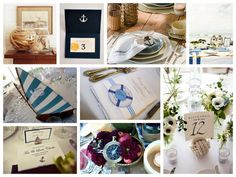 love the nautical rope with table number