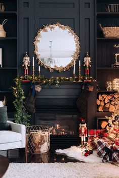 It's that time of year again to start thinking about Christmas d… – Game Room İdeas 2020 Christmas Fireplace, Christmas Room, Christmas Mantels, Silver Christmas, Noel Christmas, Rustic Christmas, Fireplace Mantel, About Christmas, Traditional Christmas Decor