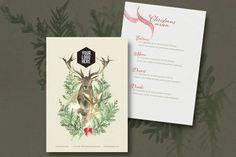 Christmas Menu Designs – Free and Premium Templates | EntheosWeb Blog Print Templates, Design Templates, Brochure Design, Brochure Template, Christmas Entrees, Menu Design, Free Design, Illustration, Blog