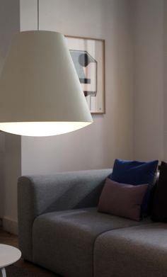 Hay Sinker pendant, large, white White P, Large White, Pendant Lamp, Pendant Lighting, Scandinavian Design, Minimalist Design, Table Lamp, Bulb, Lights
