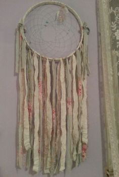 Simply Shabby Chic style dreamcatcher made with Rachel Ashwell's hydrangea ... foe sale on e-bay