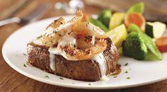 Longhorn Steakhouse : Shrimp Scampi Sirloin Longhorn Copycat Recipes, Longhorn Steakhouse Recipes, Other Recipes, Fish Recipes, Beef Recipes, Cooking Recipes, Steak Dishes, No Bake Treats, Restaurant Recipes