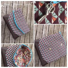 Free foldover clutch purse sewing pattern.  The Heidi bag from Swoon patterns.  Photos by Heidi Versmissen