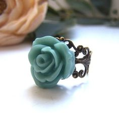 Teal Ingrid Ring, $12.00