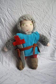 9 inches Waldorf Doll Knight Great idea for saint doll... St. George?