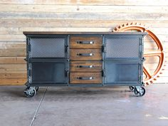 "Retro Industrial Furniture | Be the first to review ""Large Ellis Console"" Cancel reply"