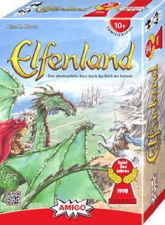 Elfenland Board Game is back in print! Check out this Elfenland Review! Elfenland is a route planning game, like Ticket to Ride... only instead of trains, you get to ride Dragons and Giant Pigs.