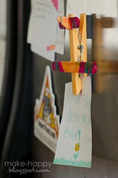 Airplane from clothespin - might be a cute mobile someday...