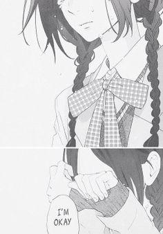 girl cute Black and White sad anime kawaii manga monochrome crying Anime girl cute anime manga