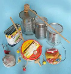 .... Pop Can Crafts, Diy Crafts For Kids, Aluminum Foil Crafts, Homemade Musical Instruments, Fun Songs, Recycled Crafts, Diy For Teens, Diy Toys, Kids And Parenting