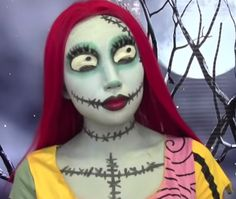 """Deck yourself out like the bug-eyed and gangly Sally from """"A Nightmare Before Christmas"""" this Halloween! #halloween #costume"""