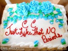 """CC   Just Like That NO Periods""  10 Funniest Literal Cake Jobs (Hilarious Gallery!)"