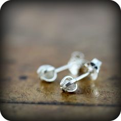 Rough Diamond Earings by June Design - a unique modern twist to a classic jewellery