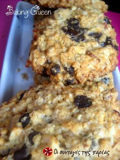 Cookies με βρώμη 2 #sintagespareas My Favorite Food, Favorite Recipes, Biscuits, School Lunch Box, Just Eat It, Yummy Mummy, Recipe Images, Sweet Recipes, Food To Make