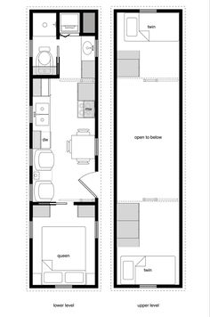 Main Floor Plan   Four Lights   Tiny House Plans   Pinterest     x Tiny House plan   a bedroom on main floor