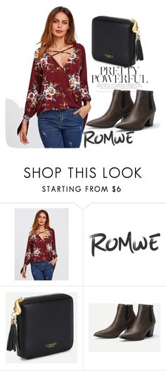 """""""7/IV"""" by decor4 ❤ liked on Polyvore featuring romwe, floralprint, polyvoreeditorial and romwefashion"""
