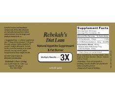 Rebekahs Diet Lean Fat Burner and Appetite Suppressant