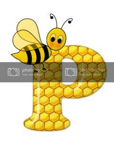 Alfabeto de abeja sobre letras de panal. - Oh my Alfabetos! Cute Bee, Blogger Templates, Tigger, Disney Characters, Fictional Characters, Alphabet, Honeycomb, Bees, Lyrics