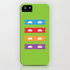 Teenage Minimal Ninja Turtles iPhone Case by The Good Stuff Factory - $35.00