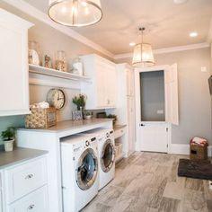Advantages Of Luxury Laundry Room 74 - sitihome White Subway Tile Bathroom, Laundry Room Lighting, Tv Unit Design, Laundry Room Design, Room Lights, Beautiful Bedrooms, Luxury Homes, Living Room Decor, Decorating Ideas
