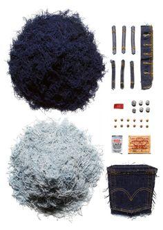 Sagmeister x Levi's 501 Art Installation for American Rag – Hypebeast Stefan Sagmeister, Sagmeister And Walsh, Things Organized Neatly, Design Art, Graphic Design, Set Design, Graphic Art, Denim Trends, Illustrations