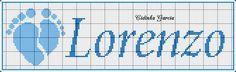 Lore Company Logo, Logos, Cross Stitch Font, Cross Stitch Baby, Boy Names, Monogram Alphabet, Guava Fruit, Names, Tags